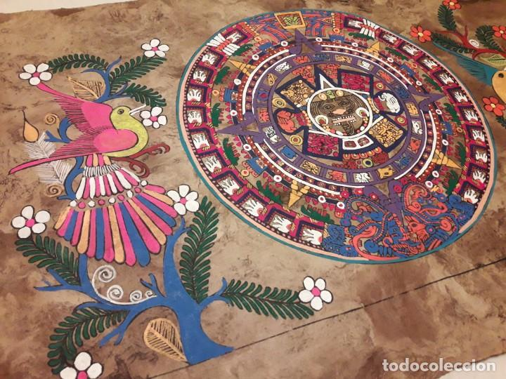 Arte: Bella pintura arte popular Mexicano pintada a mano en papel Amate - Foto 2 - 188485473