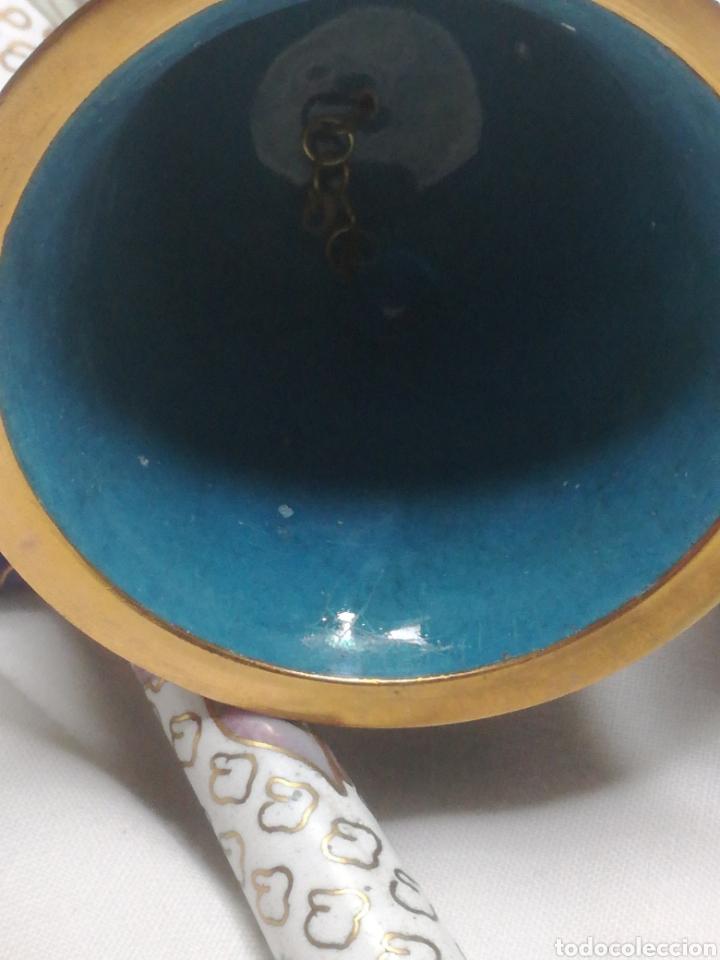 Arte: Lote 3 campanas cloisonne china - Foto 6 - 188523791
