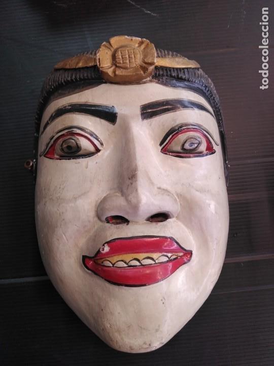 ANTIGUA MÁSCARA DE MADERA ARTE TRIBAL EN BUEN ESTADO (Arte - Étnico - América)