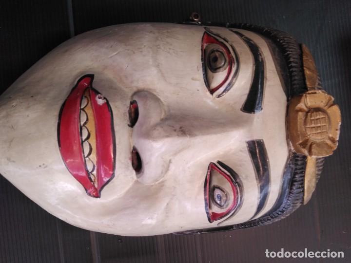 Arte: Antigua máscara de madera arte tribal en buen estado - Foto 2 - 188524572