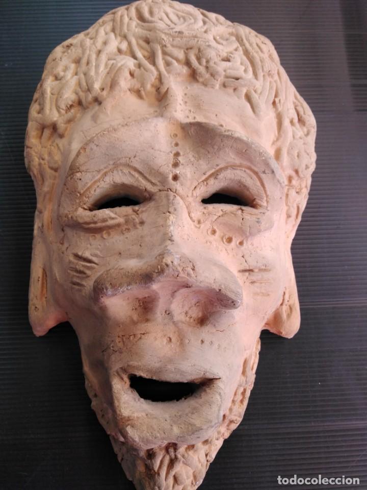 Arte: Antigua máscara terracota o barro, en perfecto estado - Foto 2 - 188605271