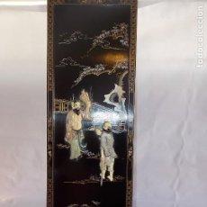 Arte: CUADRO PANEL ASIATICO CHINO VINTAGE. Lote 189412047