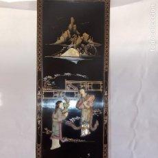 Arte: CUADRO PANEL ASIATICO CHINO VINTAGE. Lote 189412398