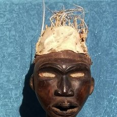 Arte: INQUIETANTE PIEZA AFRICANA - FETICHE - BAKONGO - CARGA ABDOMEN - OJOS CRISTAL - RARO. Lote 189514270