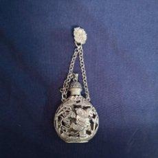 Arte: TABAQUERA EN METAL PLATEADO CHINO. Lote 189975730