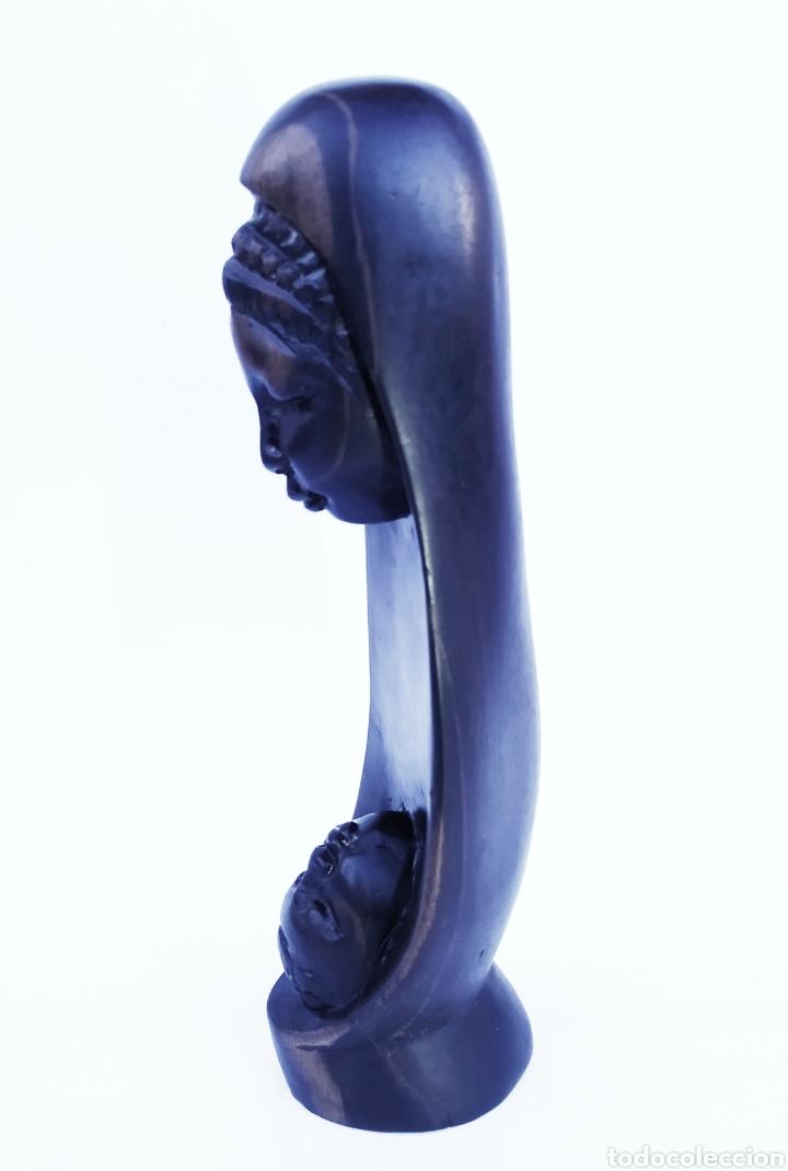 Arte: Ébano. Figura maternidad. - Foto 6 - 190076478