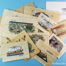 Arte: LOTE 14 PAPIROS EGIPCIOS DE DIVERSOS TAMAÑOS + 5 CERTIFICADOS DE GARANTIA, VER IMAGENES, EGIPTO. Lote 190373862