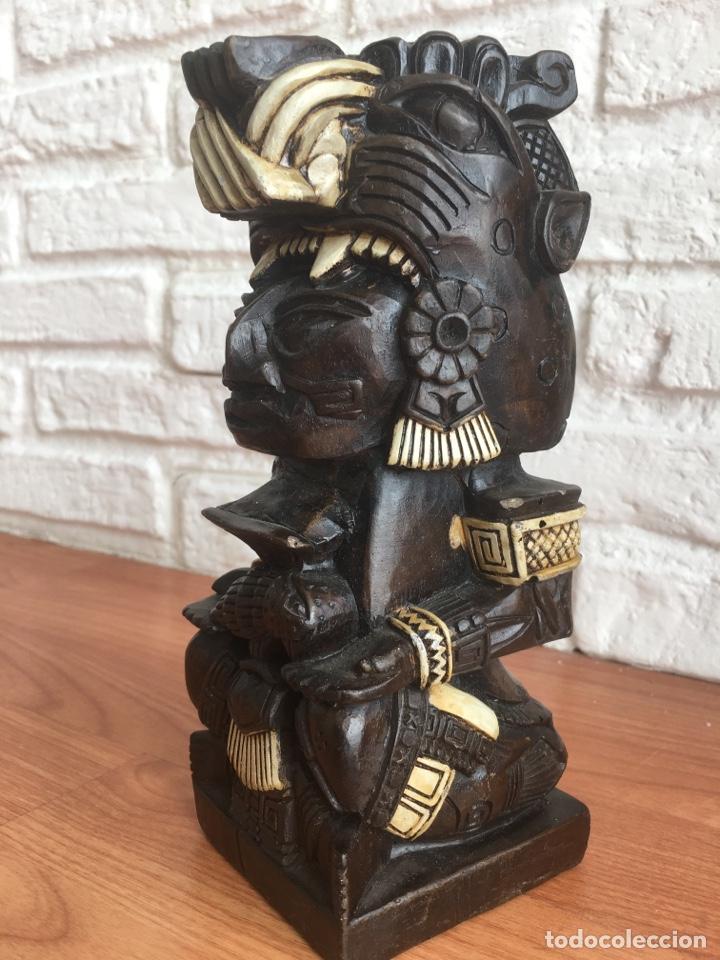 TOTEM ESCULTURA MAYA AZTECA POR IDENTIFICAR (Arte - Étnico - América)