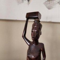 Arte: MUJER AFRICANA DE ÉBANO. Lote 190812122