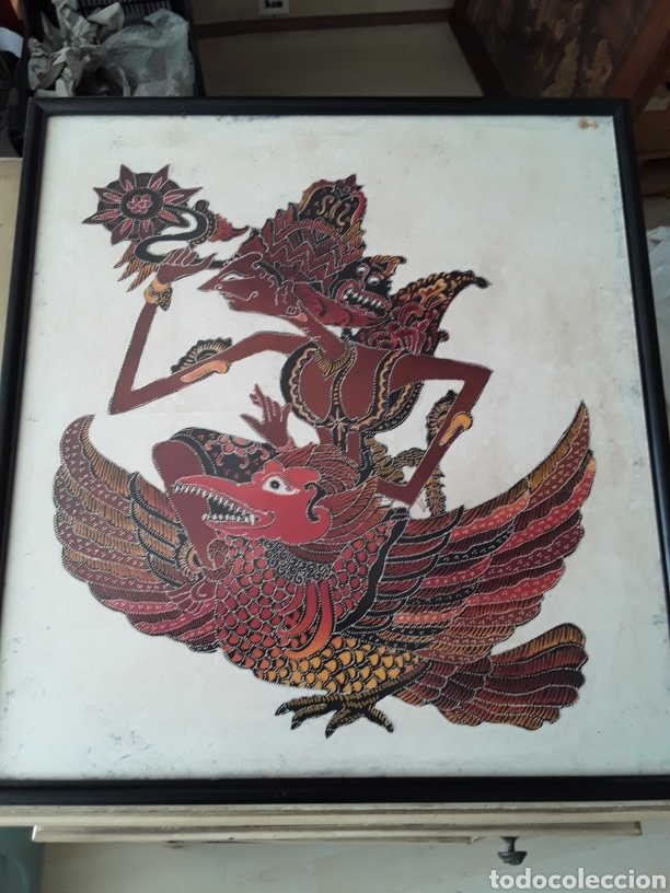 PINTURA SOBRE TELA JAVA VINTAGE (Arte - Étnico - Asia)