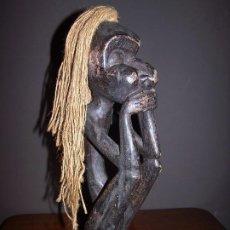 Arte: ANTIGUA FIGURA ESCULTURA AFRICANA 35CM. Lote 191065487