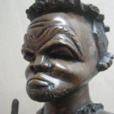 Arte: FETICHE: ÁFRICA. S. XIX * 55 CM / 6.6 KG * TRONCO DE MADERA NOBLE TALLA * ANTIGUA ESTATUA DE PODER. Lote 191111638