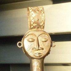 Arte: PRECIOSA CAMPANA DE BRONCE DE OSUN - NIGERIA - 42 CM.. Lote 191146695