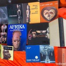Arte: LOTE DE LIBROS SOBRE ARTE AFRICANO , AFRICAN ART , MASKS , ETC. MASCARAS , FIGURAS , ETC.. Lote 191173000