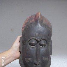 Arte: ANTIGUA MASCARA DE MADERA TALLADA DE TRIBU AFRICANA, ORIGINAL.. Lote 191227007