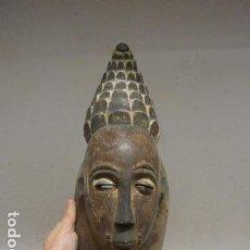 Arte: ANTIGUA MASCARA DE MADERA TALLADA DE TRIBU AFRICANA, ORIGINAL.. Lote 191227197