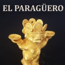Arte: CHAMAN DOBLE YO PRECOLOMBINA QUIMBAYA DE ORO TUMBAGA PESO 56 GRAM - Nº111. Lote 191229756