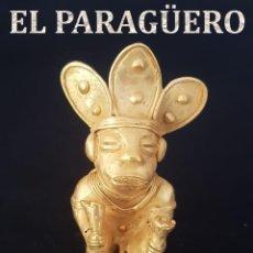 Arte: CHAMAN DE 2 CEDROS PRECOLOMBINA QUIMBAYA DE ORO TUMBAGA PESO 55 GRAM - Nº112. Lote 191229897