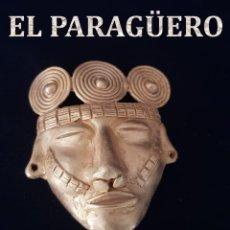 Arte: MASCARA FUNEBRE PRECOLOMBINA QUIMBAYA DE ORO TUMBAGA PESO 47 GRAM - Nº115. Lote 191230283
