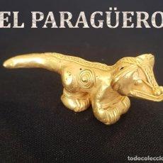 Arte: JAGUAR PRECOLOMBINA QUIMBAYA DE ORO TUMBAGA PESO 31 GRAM - Nº120. Lote 191231500