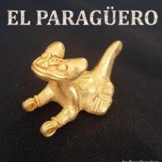 Arte: JAGUAR PRECOLOMBINA QUIMBAYA DE ORO TUMBAGA PESO 20 GRAM - Nº121. Lote 191231522