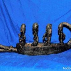 Arte: BARCA AFRICANA BRONCE DOGON. Lote 191274477