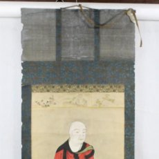 Arte: PINTURA ENROLLABLE SOBRE PAPEL, DEIDAD JAPÓN CA 1890. HANGING SCROLL PAINTING JAPAN CA 1890. Lote 191558750