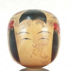 Arte: KOKESHI DENTO. MUÑECA TIPICA JAPONESA. MADERA. PINTADA A MANO. SIGLO XX.. Lote 191588265
