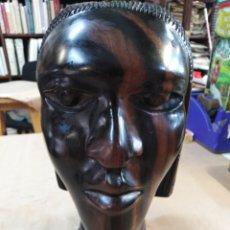 Arte: TALLA DE MADERA DE ÉBANO AFRICANA, MUJER. Lote 191780166