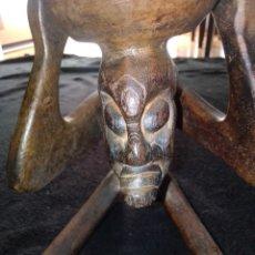 Arte: PORTAVELAS ÉTNICO AFRICANO REALIZADO A MANO ARTESANALMENTE. VER DESCRIPCIÓN. Lote 191872006