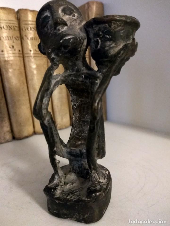 Arte: ESCULTURA DE BRONCE ARTE ETNICO DE PAPUA NUEVA GUINEA - Foto 2 - 192478162