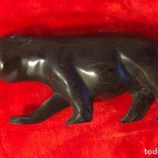 Arte: TIGRE TALLADO EN MADERA DE EBANO. Lote 192547158
