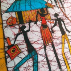 Arte: BATIK AFRICA MOZAMBIQUE ARTE AFRICANO PINTURA 70X40. Lote 192725272