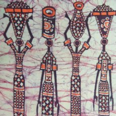 Arte: BATIK AFRICA MOZAMBIQUE ARTE AFRICANO PINTURA 70X40. Lote 192726060