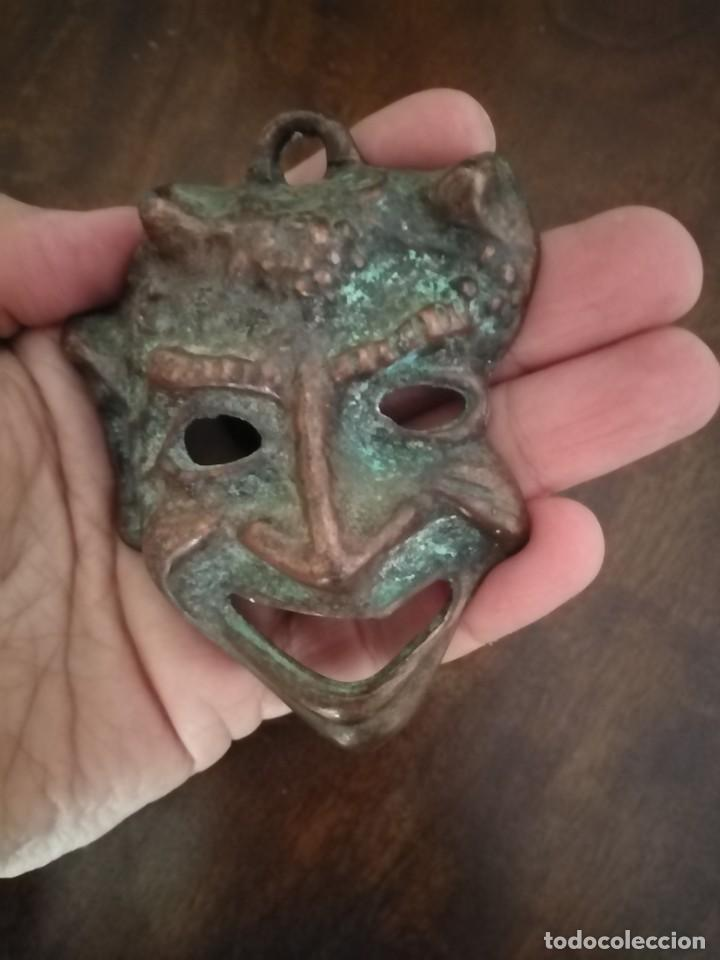 Arte: Máscara de Bronce Diablo o Fauno. - Foto 2 - 192906090