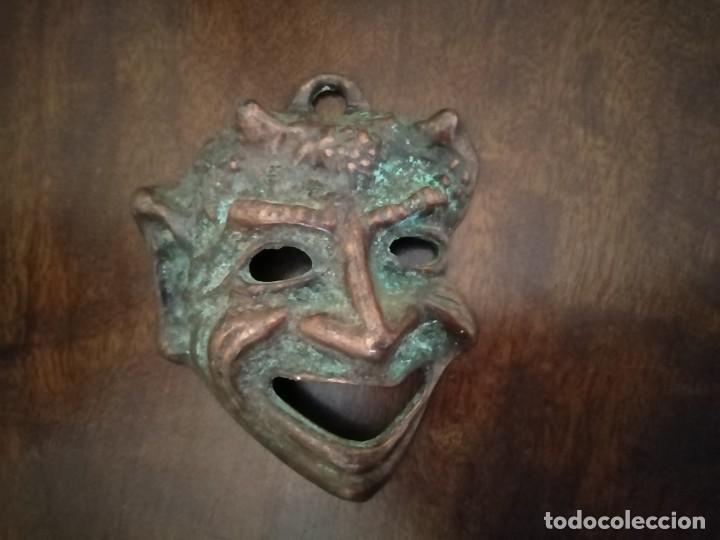 Arte: Máscara de Bronce Diablo o Fauno. - Foto 3 - 192906090