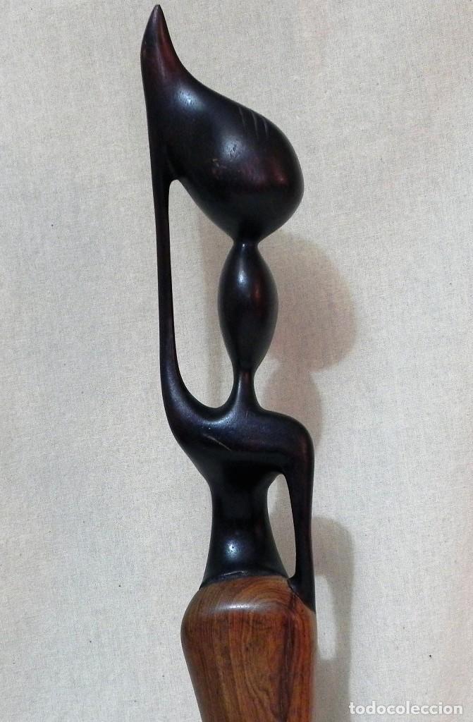 Arte: Escultura AFRICANA Talla Madera Ébano Figura Mujer Campesina Artesanía África Estatua - Foto 6 - 194010817