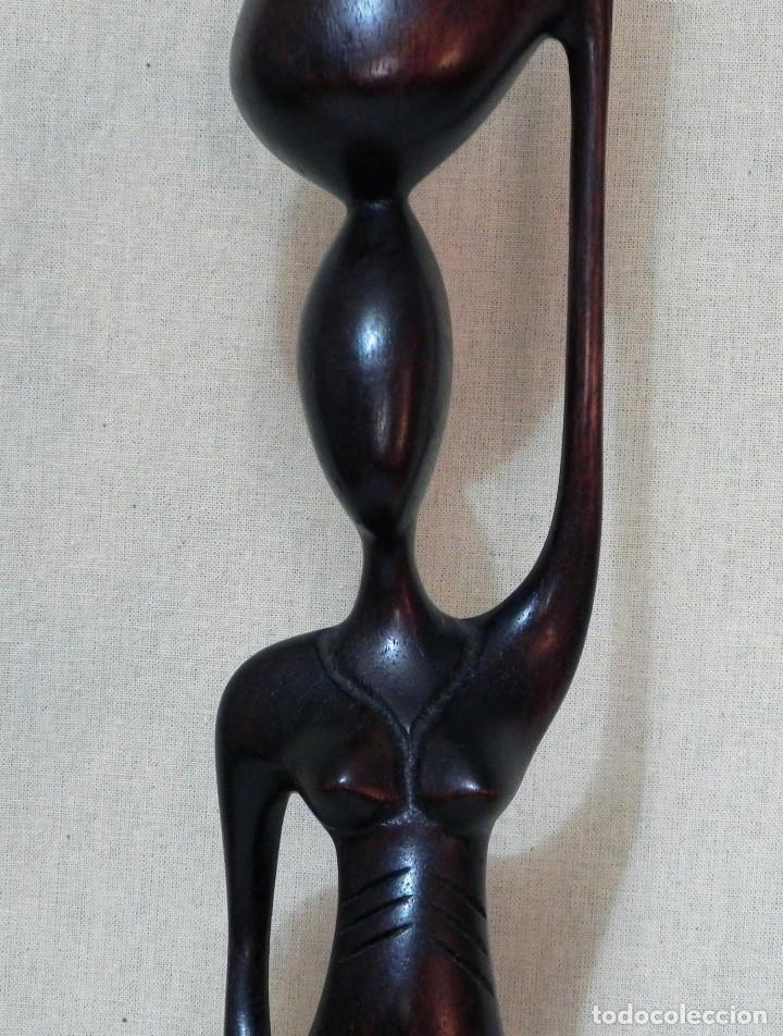 Arte: Escultura AFRICANA Talla Madera Ébano Figura Mujer Campesina Artesanía África Estatua - Foto 10 - 194010817