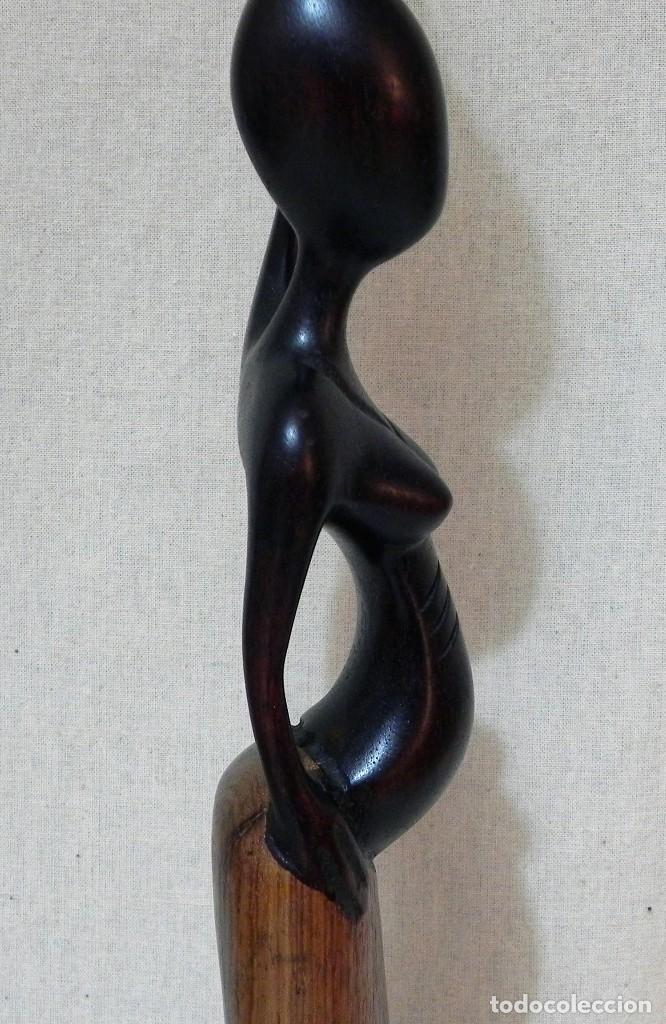 Arte: Escultura AFRICANA Talla Madera Ébano Figura Mujer Campesina Artesanía África Estatua - Foto 11 - 194010817