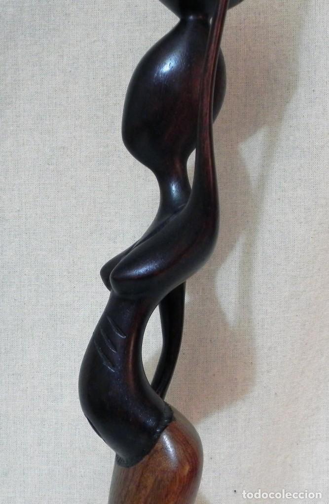 Arte: Escultura AFRICANA Talla Madera Ébano Figura Mujer Campesina Artesanía África Estatua - Foto 13 - 194010817