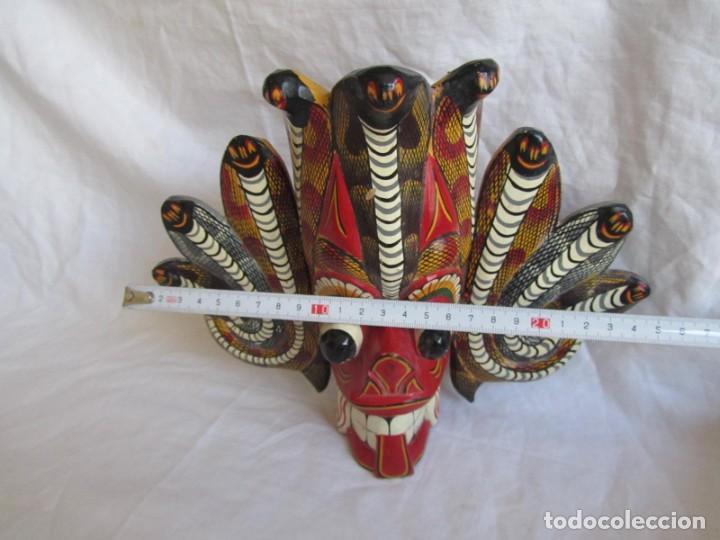 Arte: Máscara de madera hecha y pintada a mano Indonesia Bali Tailandia - Foto 3 - 194218231