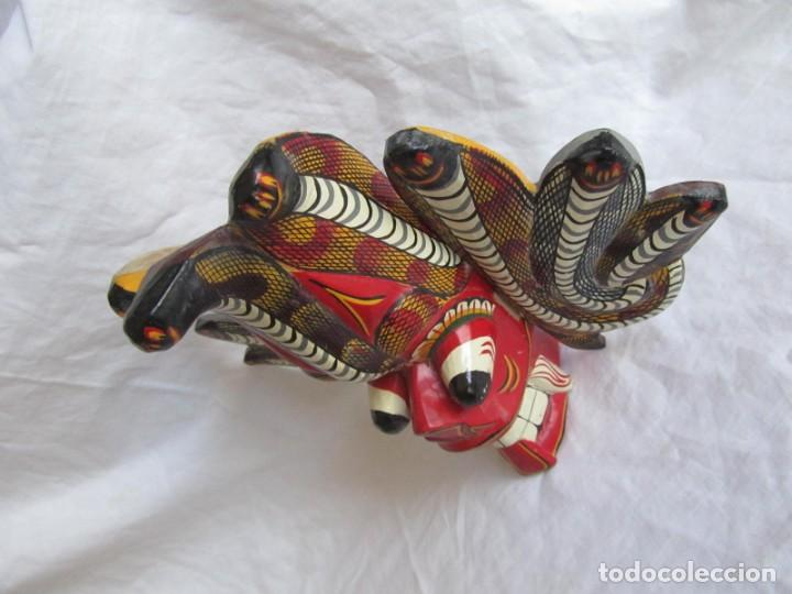 Arte: Máscara de madera hecha y pintada a mano Indonesia Bali Tailandia - Foto 5 - 194218231