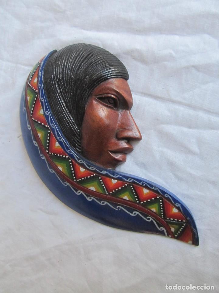 Arte: Caretas de madera hechas y pintadas a mano para colgar Perú - Foto 6 - 194218681