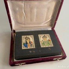 Arte: ANGLO INDIAN MINIATURE EMPEROR AKBAR AND WIFE . CAJA INDIA DE METAL CON MINIATURAS , EMPERADOR . Lote 194291400