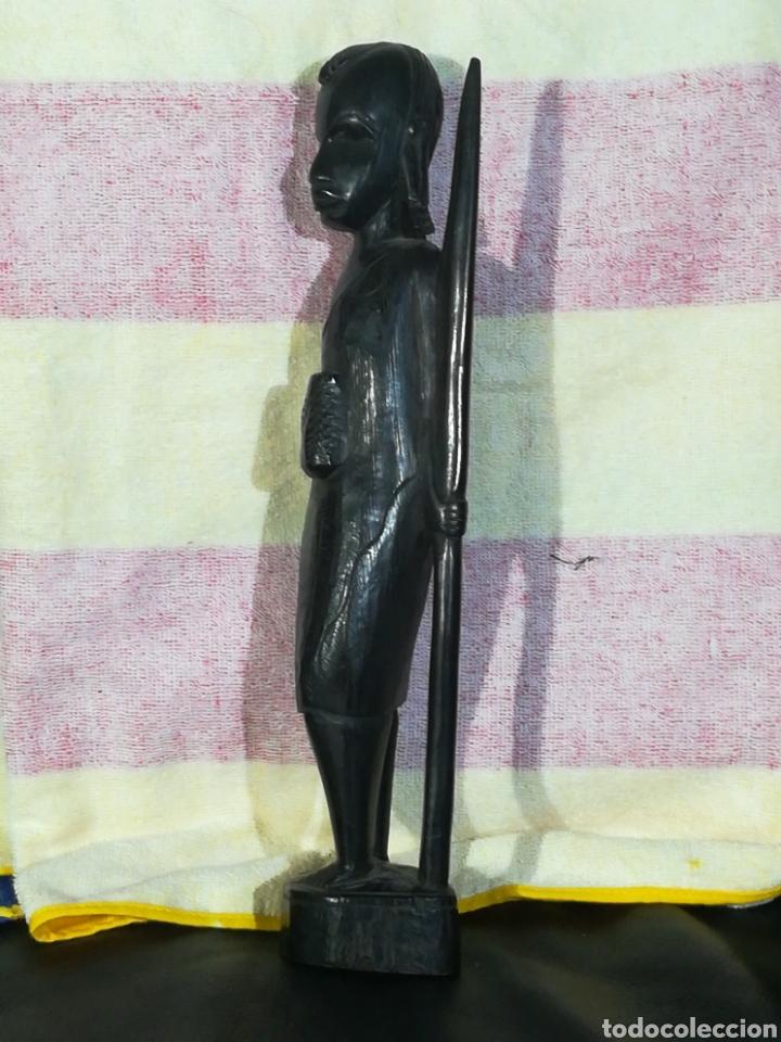 Arte: MAGNEFICA TALLA DE MADERA EBANO 32cm - Foto 4 - 194298451