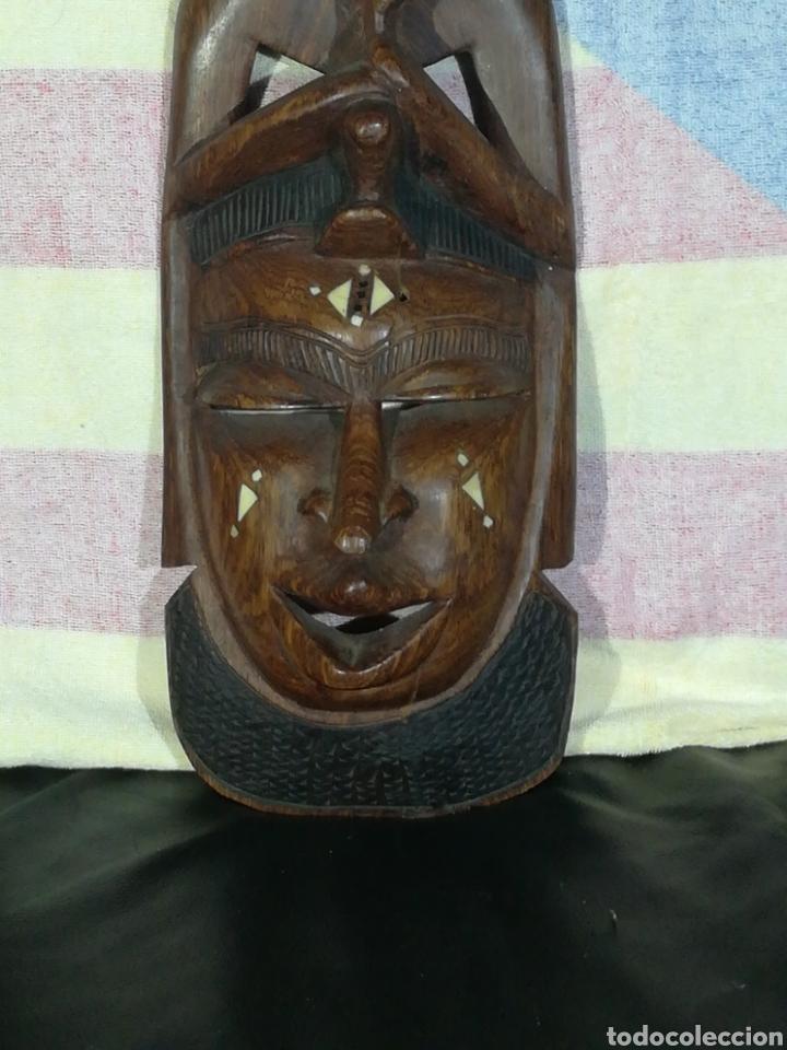 Arte: ANTIGUA MASCARA AFRICANA 42x18 cm - Foto 5 - 194300092