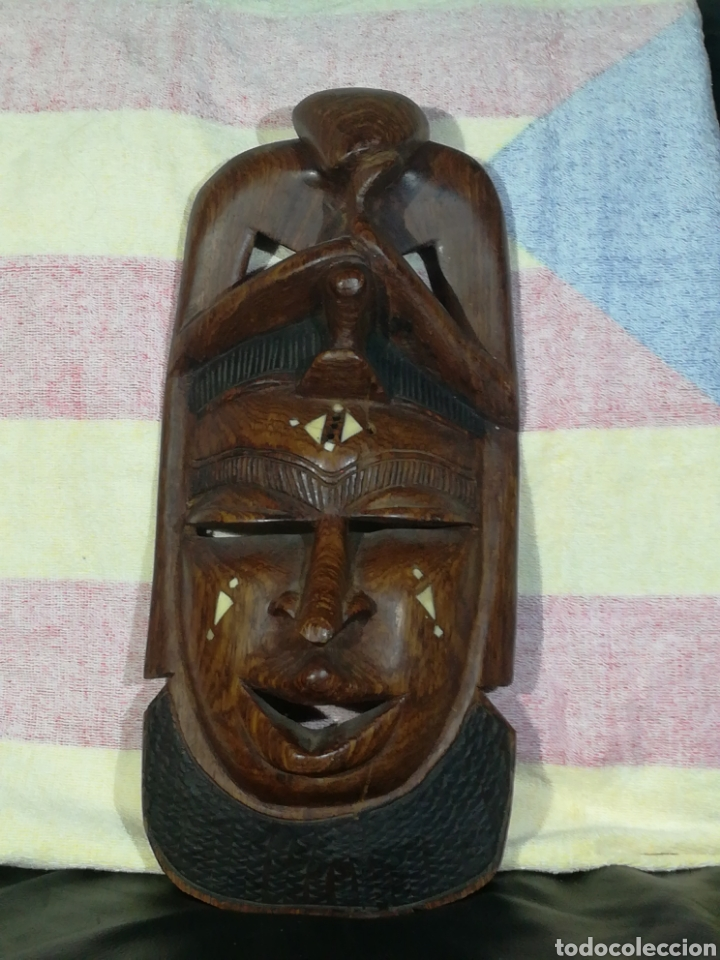 ANTIGUA MASCARA AFRICANA 42X18 CM (Arte - Étnico - África)