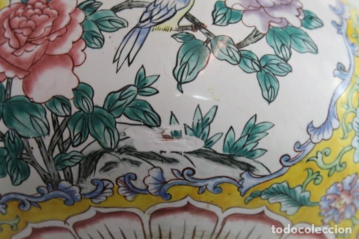 Arte: PAREJA DE JARRONES CHINOS EN BRONCE Y COBRE ESMALTADO PINTADO A MANO - MEDIADOS DEL SIGLO XX - Foto 13 - 194327710