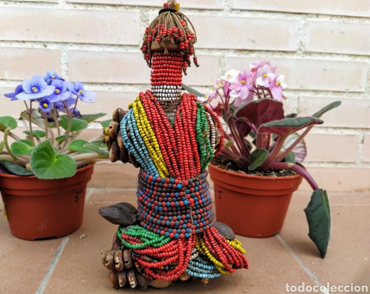 Arte: Antigua muñeca africana Namji, Camerún - Foto 12 - 194384785