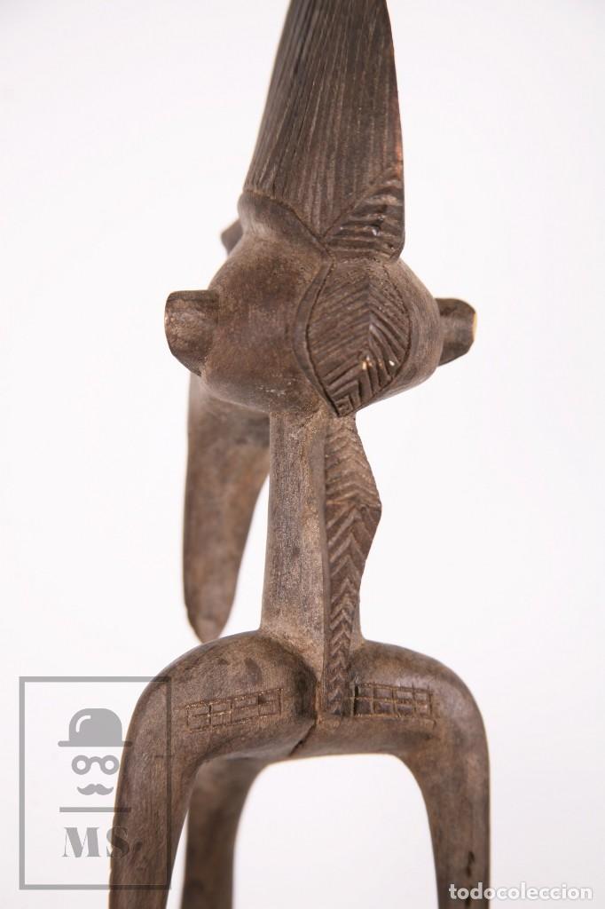 Arte: Talla / Escultura Tribal Africana de Madera - Mujer Embarazada - Medidas 10 x 8,5 x 60 cm - Foto 10 - 194394376
